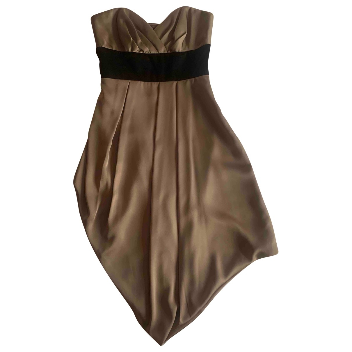 Bcbg Max Azria \N Kleid in  Metallic Polyester