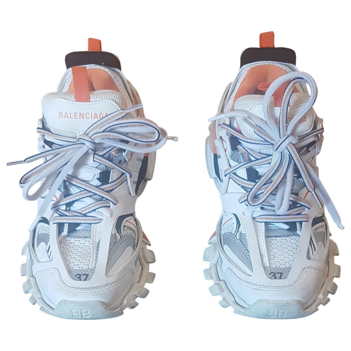 Balenciaga Track White Rubber Trainers for Women 37 EU