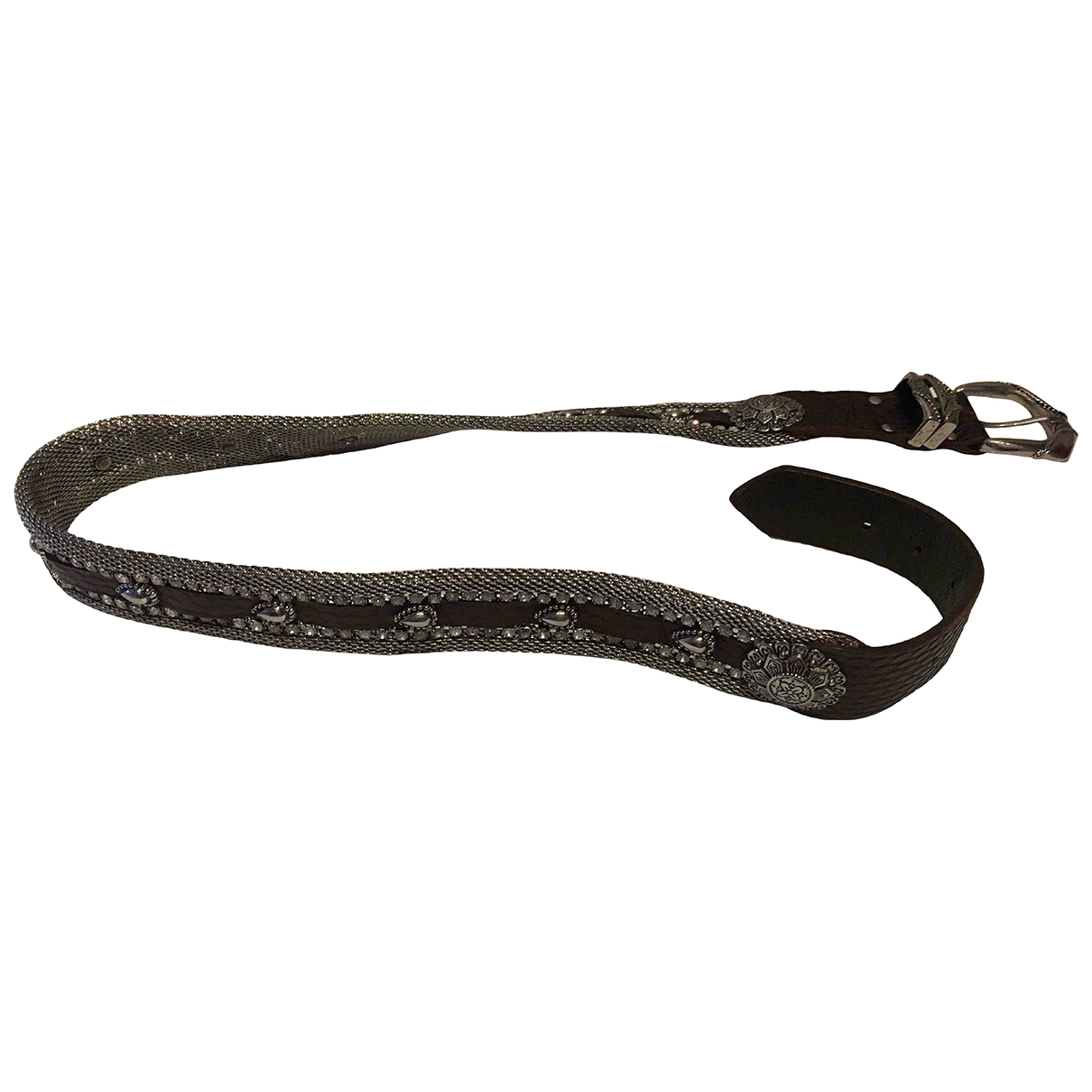 Non Signé / Unsigned \N Brown Leather belt for Women 80 cm