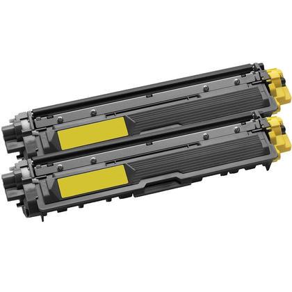 Compatible Brother TN-225 cartouche de toner jaune - boite economique - 2/paquet