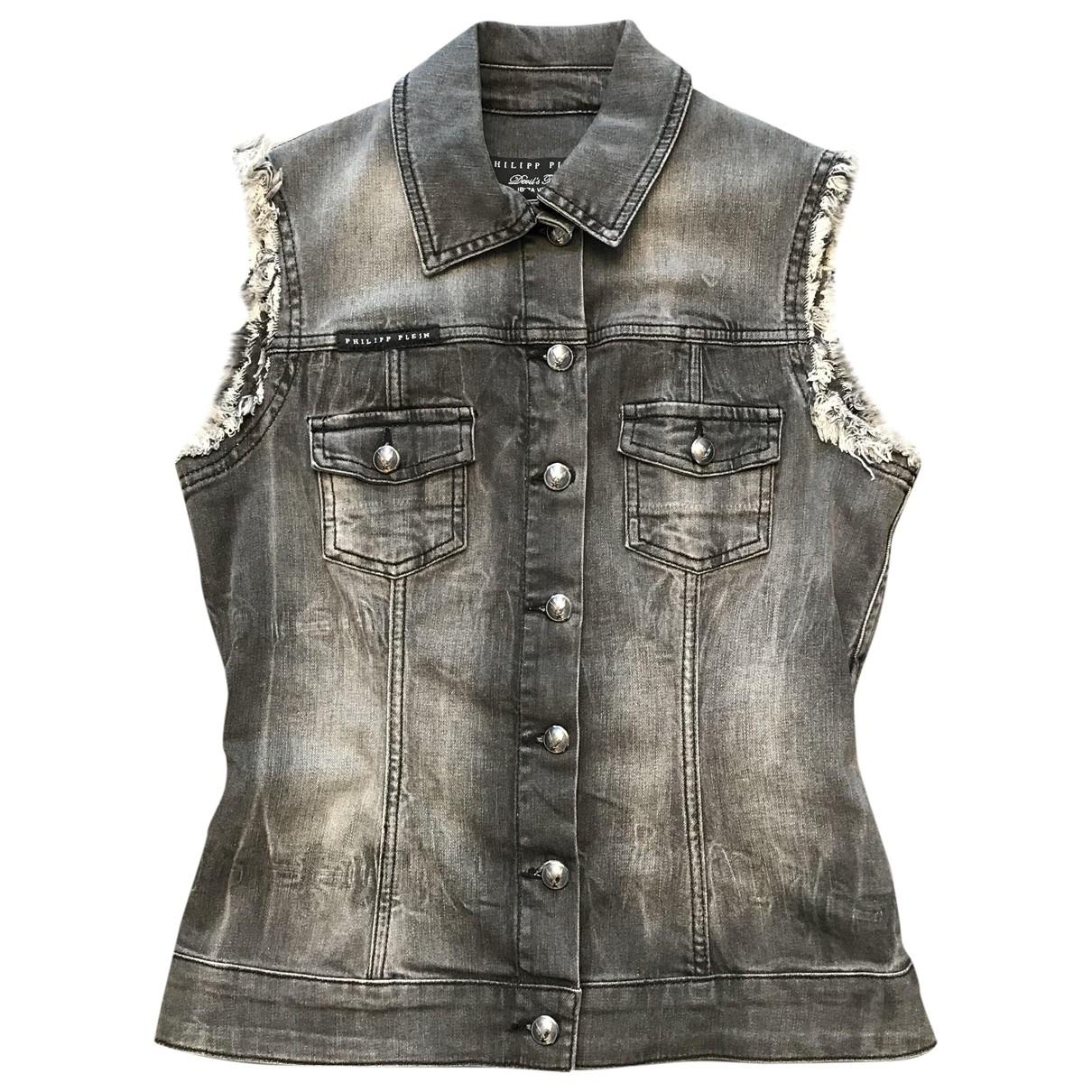 Philipp Plein \N Grey Cotton jacket for Women S International