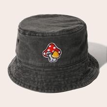 Mushroom Embroidered Bucket Hat