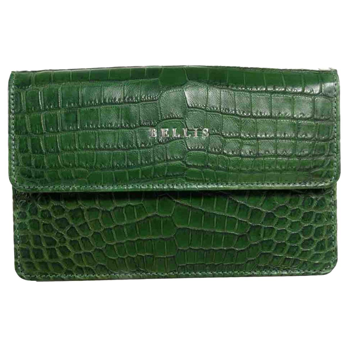 - Pochette   pour femme en crocodile - vert
