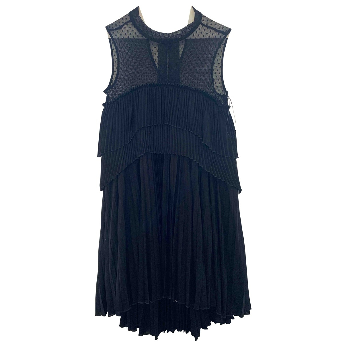 Max Mara \N Black Cotton - elasthane dress for Women 40 IT