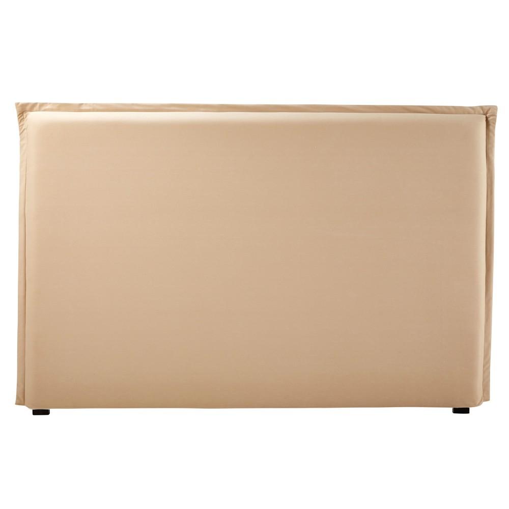 Bezug fuer Bettkopfteil aus beiger Baumwolle B180