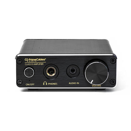 Mini Amplifier 30-Watt Dual Channel Home Digital Audio - Black - PrimeCables®