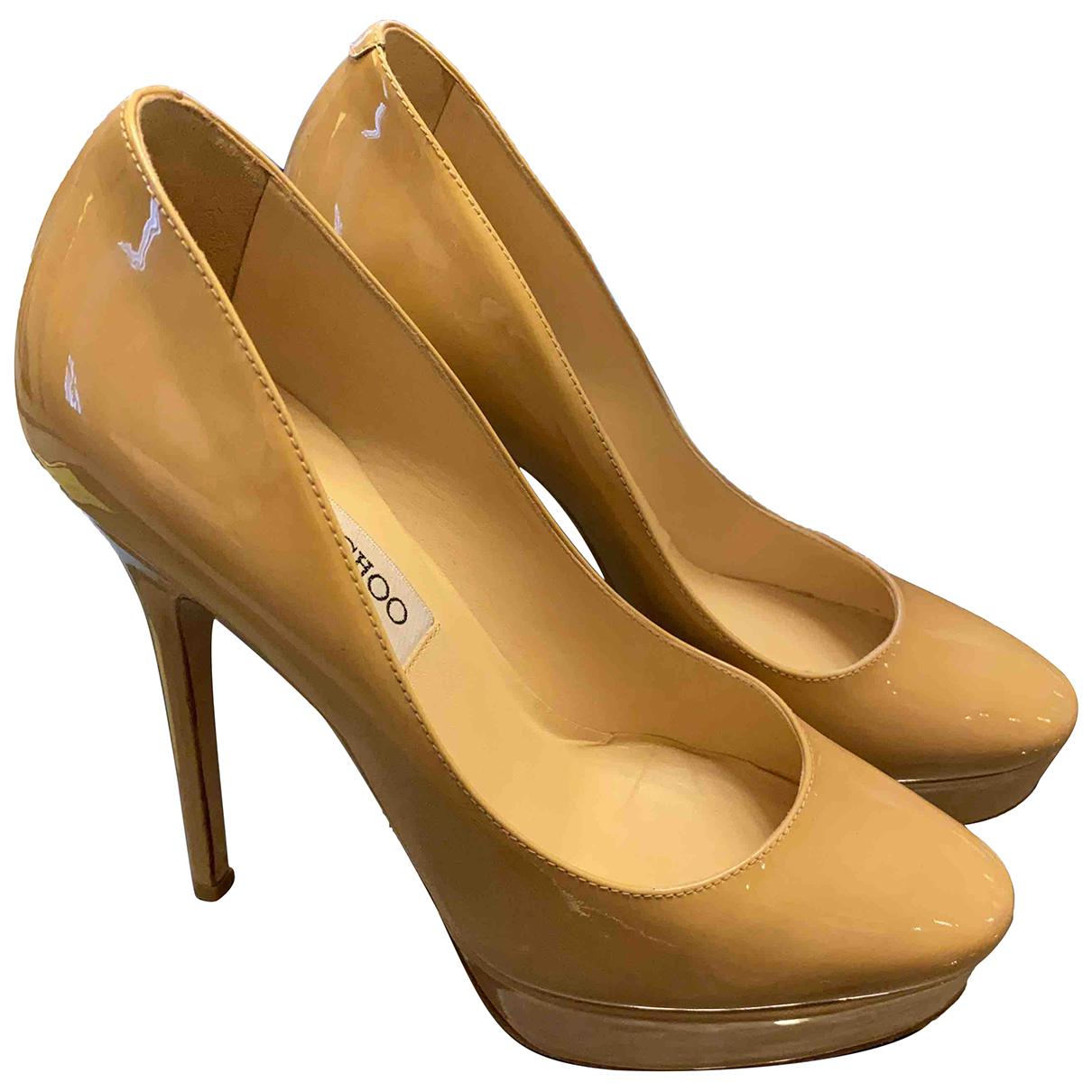 Jimmy Choo Esme Beige Patent leather Heels for Women 36 EU