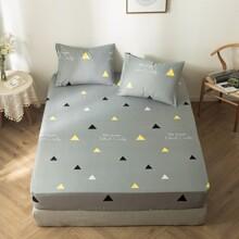 1 Stueck Bettuch mit Geometrie Muster ohne Kissen