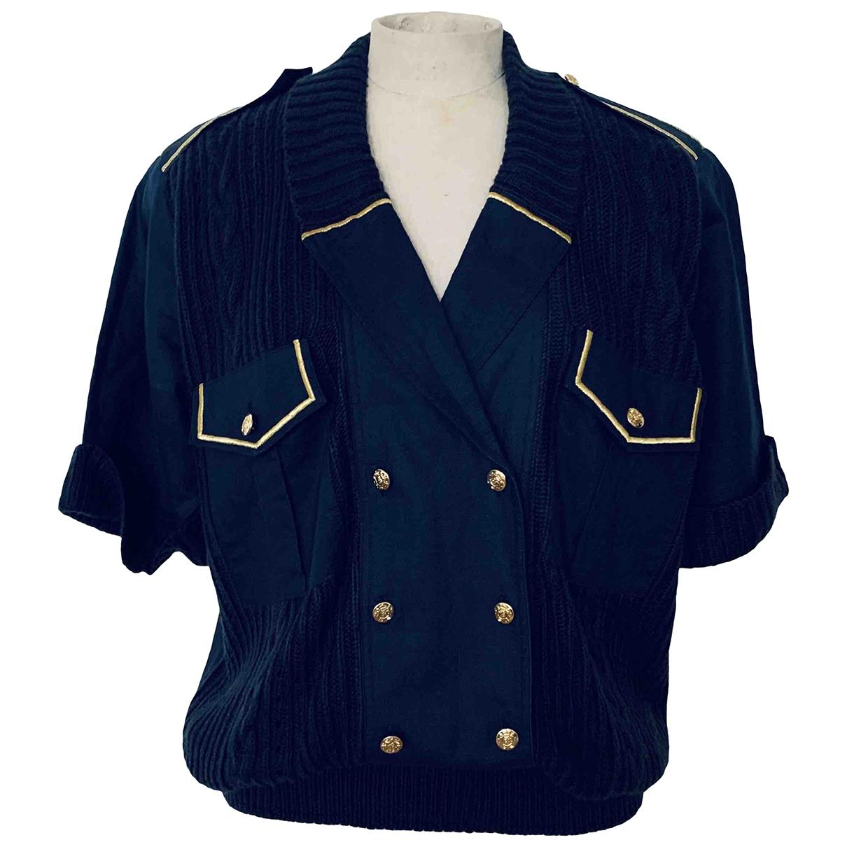 - Top Oversize pour femme en coton - marine