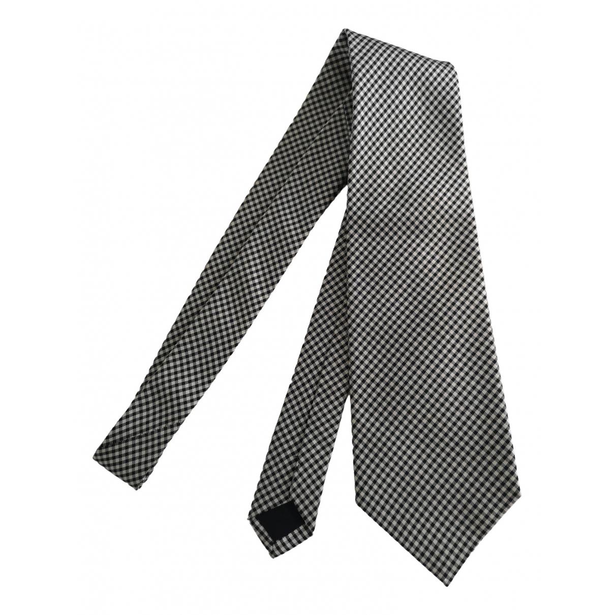 Non Signe / Unsigned \N Krawatten in  Grau Seide