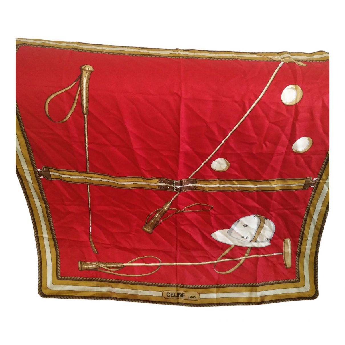Celine N Red Silk Silk handkerchief for Women N