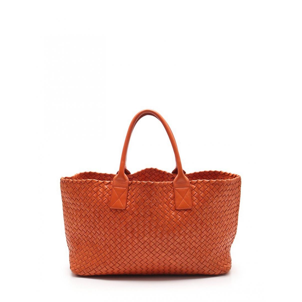 Bottega Veneta Fourre-Tout  Handtasche in  Orange Leder