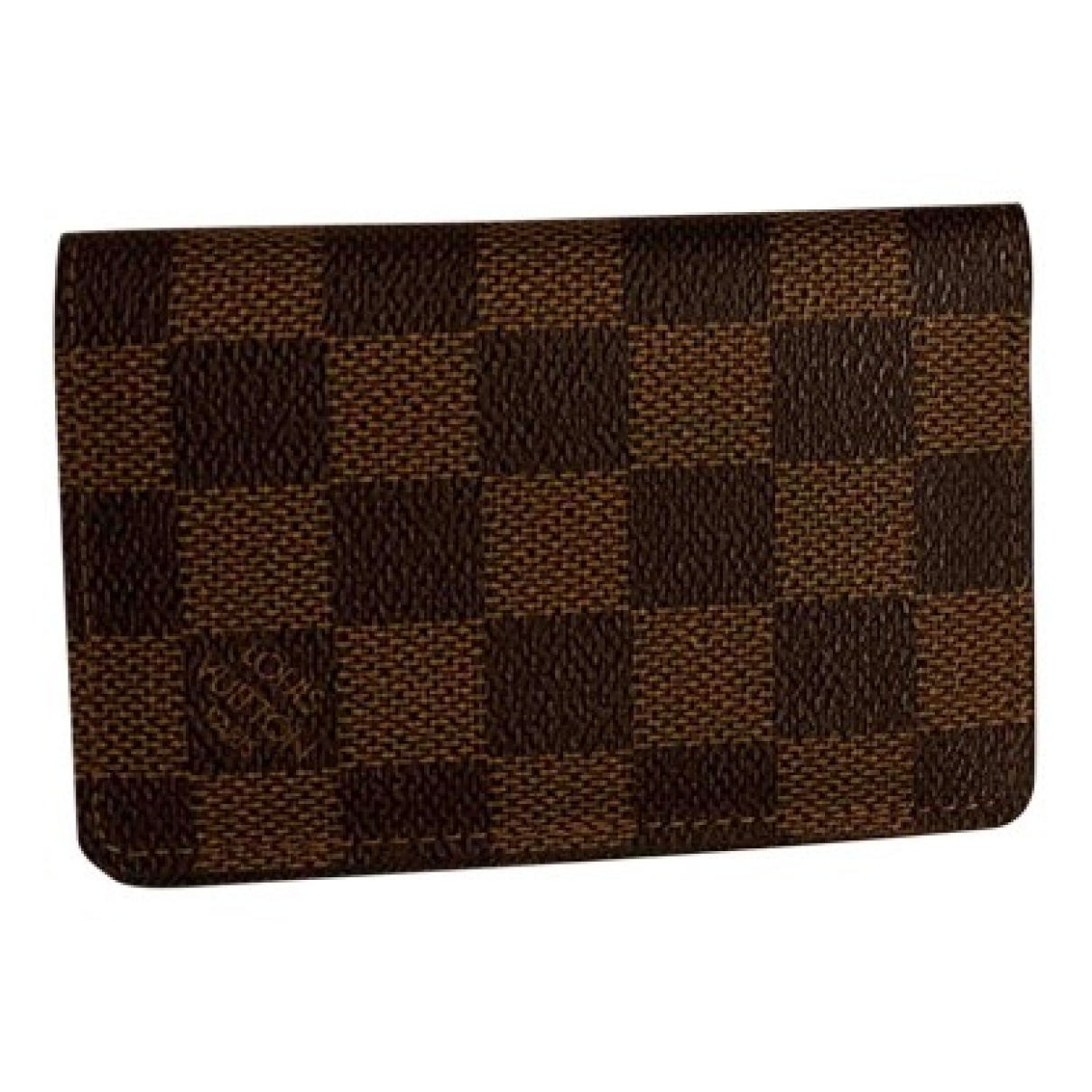 Louis Vuitton Pocket Organizer Brown Cloth Small bag, wallet & cases for Men \N