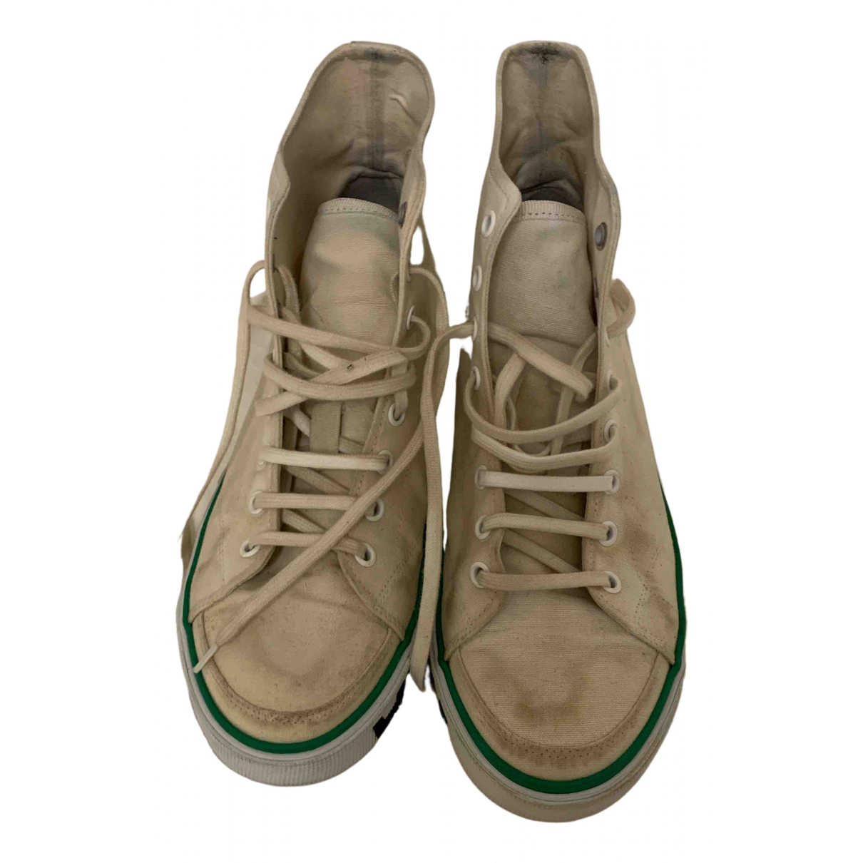 Balenciaga \N Sneakers in  Beige Leinen