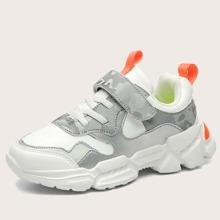 Boys Camo Print Velcro Strap Sneakers