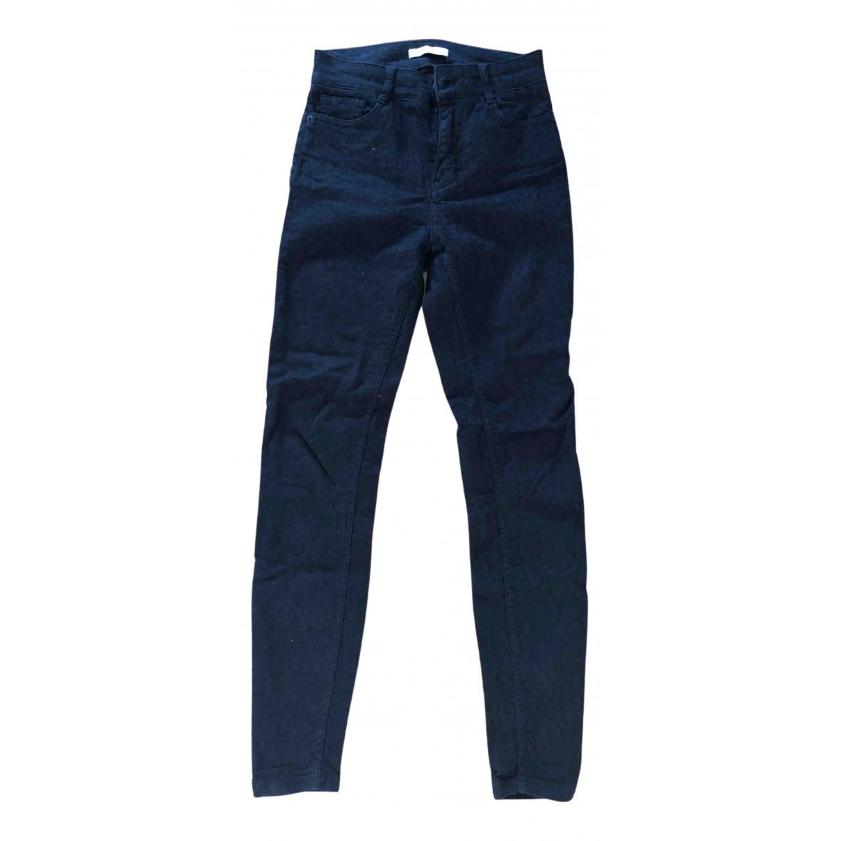 Maje \N Black Cotton - elasthane Jeans for Women 36 FR