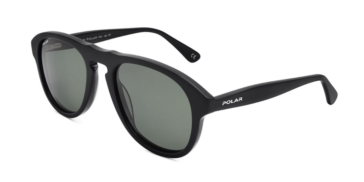 Polar PL Quentin Polarized 77 Men's Sunglasses Black Size 52