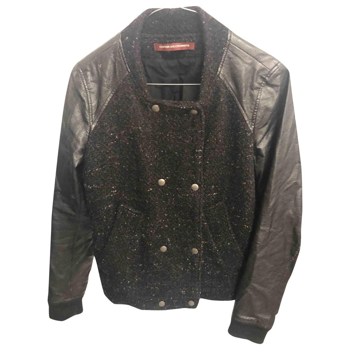 Comptoir Des Cotonniers \N Jacke in  Schwarz Wolle