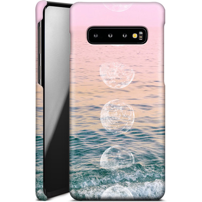 Samsung Galaxy S10 Smartphone Huelle - Moontime Beach von Emanuela Carratoni