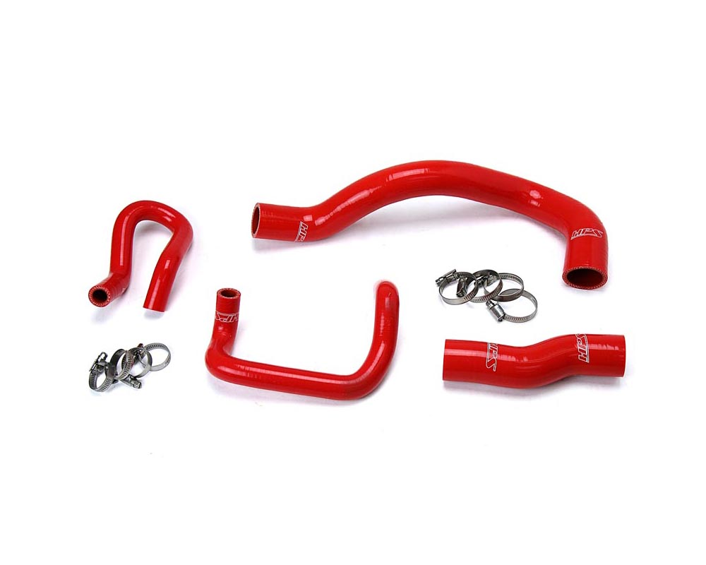 HPS Red Reinforced Silicone Radiator + Heater Hose Kit for Lexus 01-05 IS300 I6 3.0L