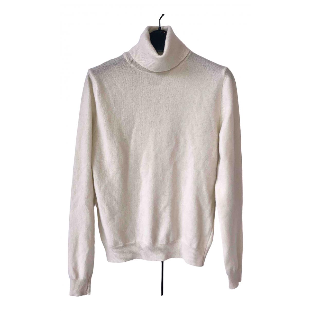 Benetton - Pull   pour femme en laine - ecru