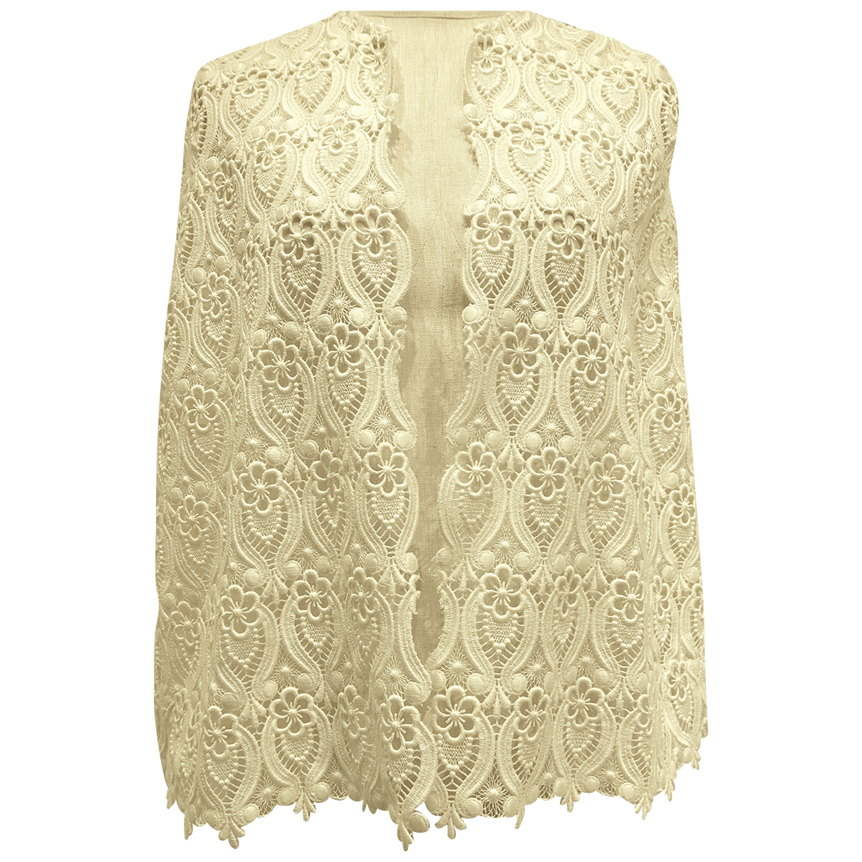 Non Signé / Unsigned \N White Cotton jacket for Women One Size International