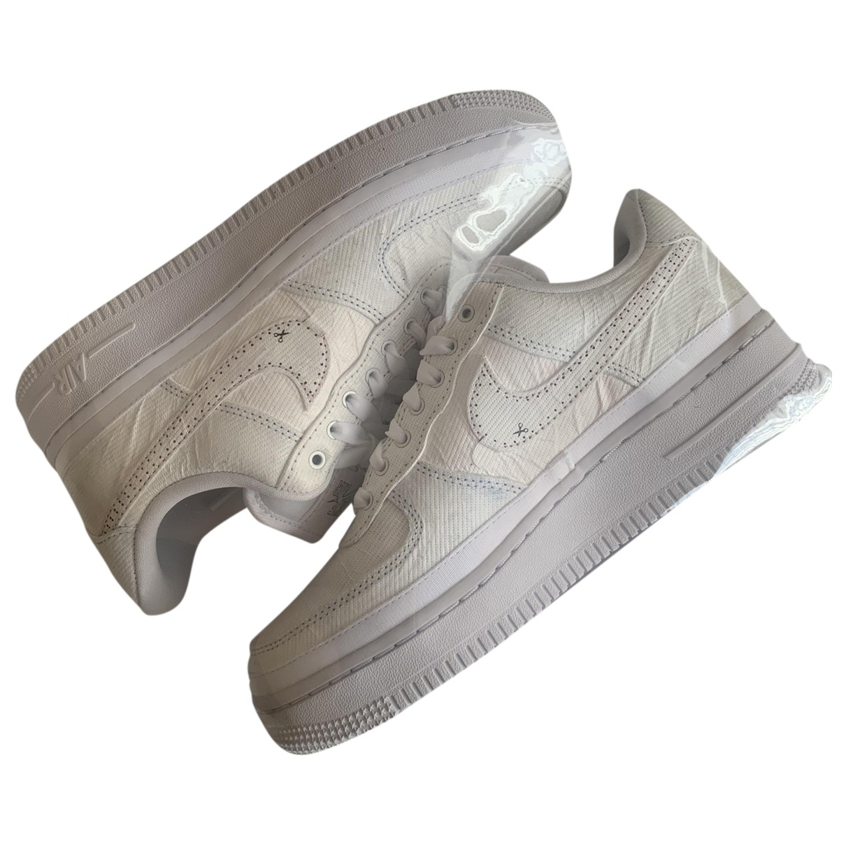 Nike Air Force 1 Sneakers in  Weiss Leinen