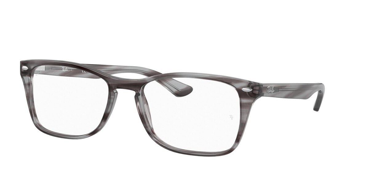 Ray-Ban RX5228M 8055 Men's Glasses Grey Size 54 - HSA/FSA Insurance - Blue Light Block Available