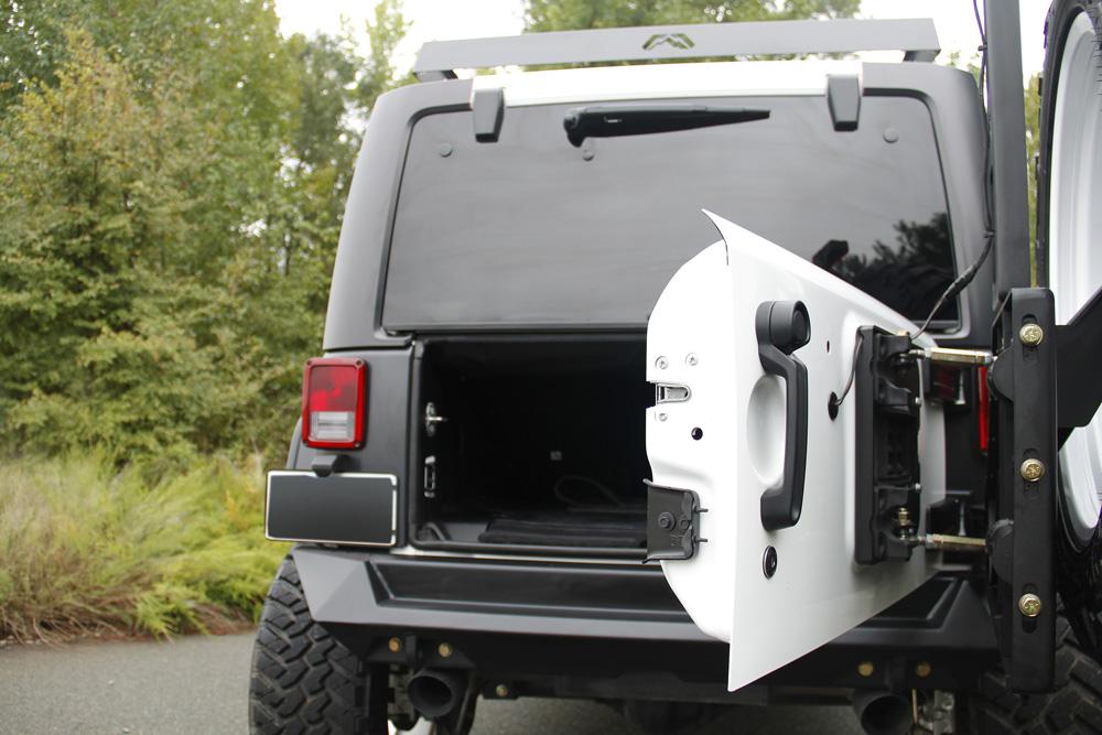 Fab Fours JP-Y1261T-1 07-18 Jeep Wrangler JK Off the Door Tire Carrier (needs base bumper)