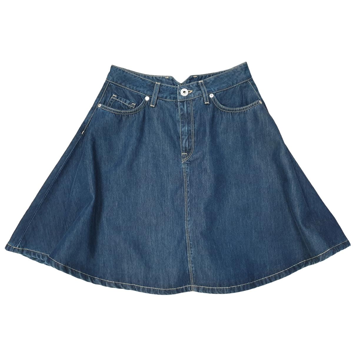 Liu.jo - Jupe   pour femme en coton - bleu