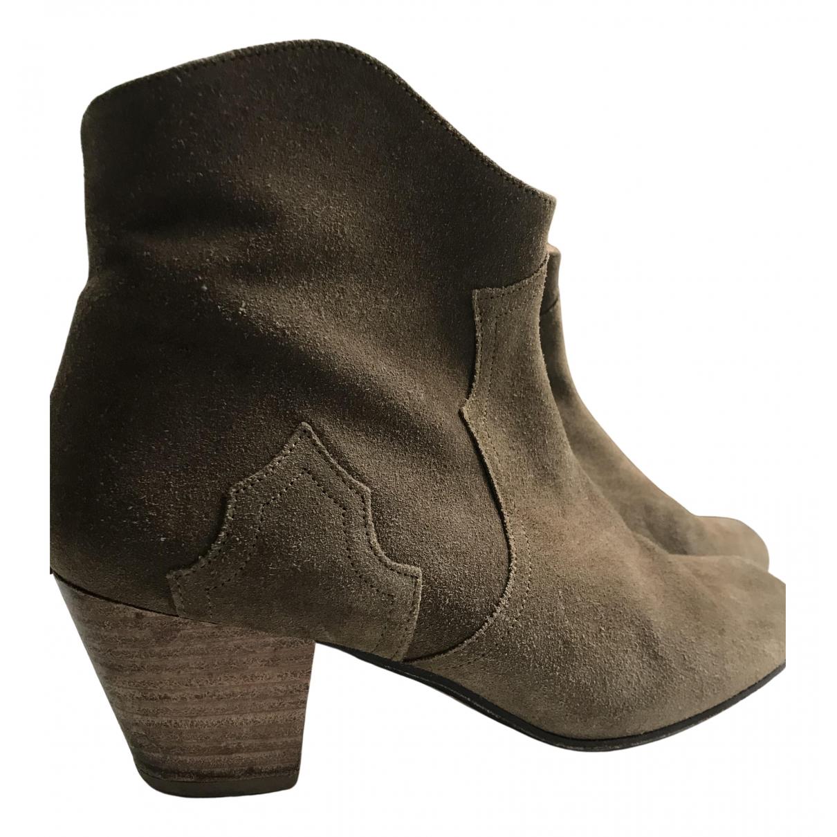 Isabel Marant - Boots Dicker pour femme en cuir