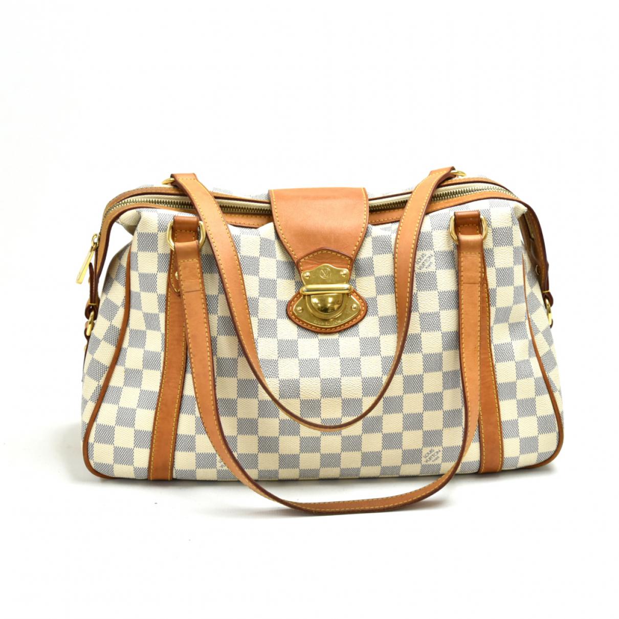 Louis Vuitton - Sac a main Stresa pour femme en toile - marron