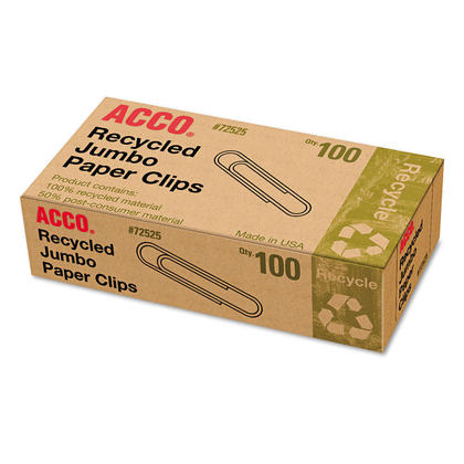 Acco Recycled Paper Clip,1.56