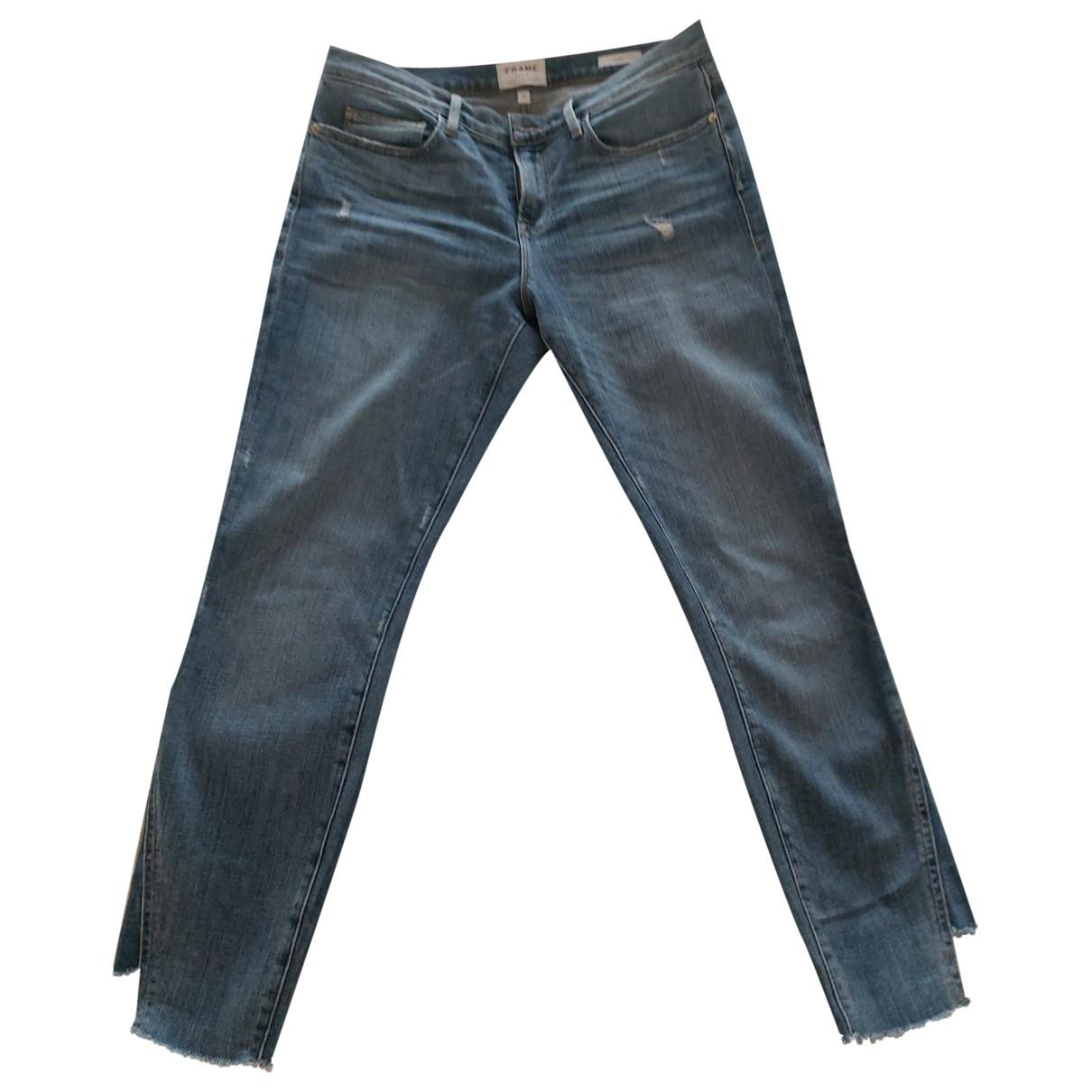 Frame Denim \N Blue Denim - Jeans Jeans for Women 29 US