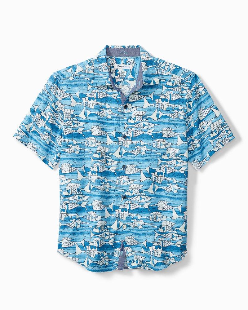 20 Artist Series Blue Fish Bay Camp Shirt