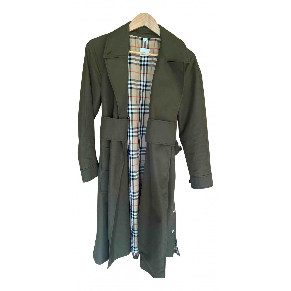 Burberry N Khaki Cotton Trench coat for Women 4 UK