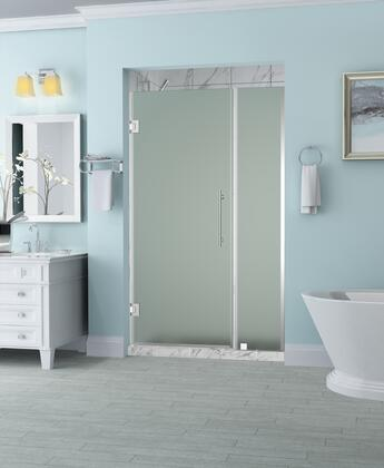SDR965F-CH-4131-10 Belmore 40.25 To 41.25 X 72 Frameless Hinged Shower Door With Frosted Glass In