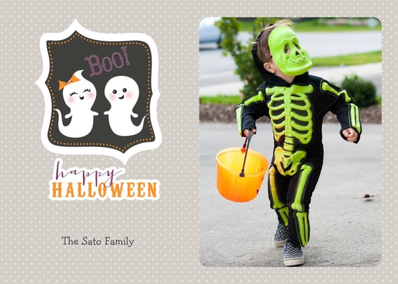 Halloween Photo Cards 5x7 Cards, Premium Cardstock 120lb with Rounded Corners, Card & Stationery -A Booo-tiful Friendship