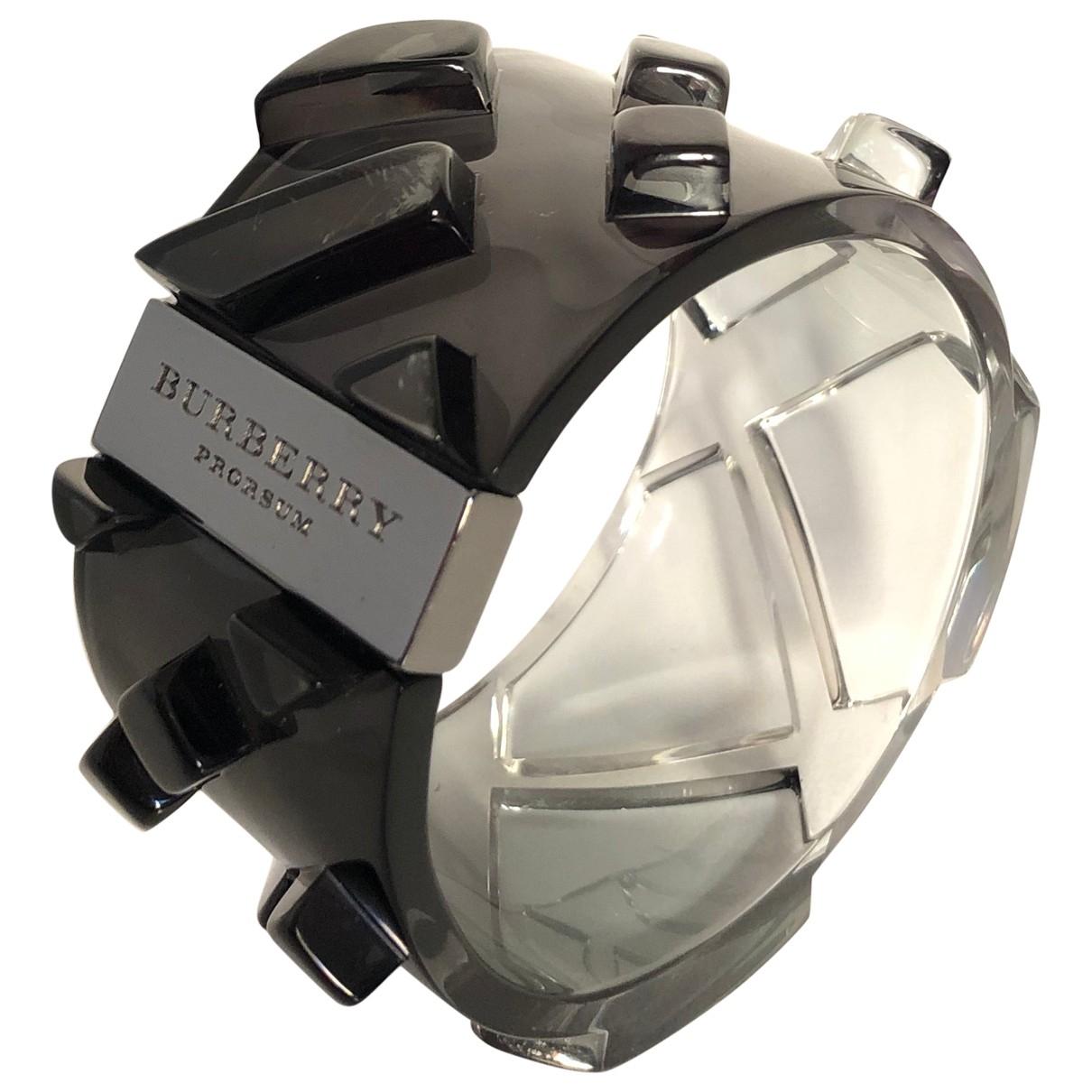 Burberry \N Armband in  Schwarz Kunststoff