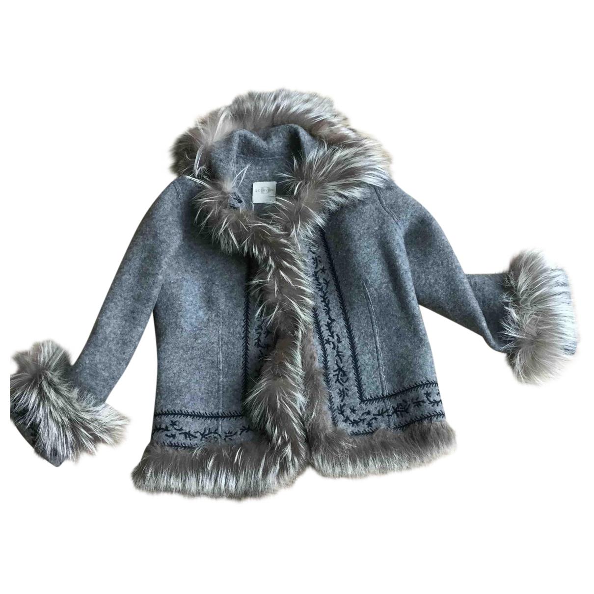 Ermanno Scervino \N Grey Wool jacket for Women 42 IT