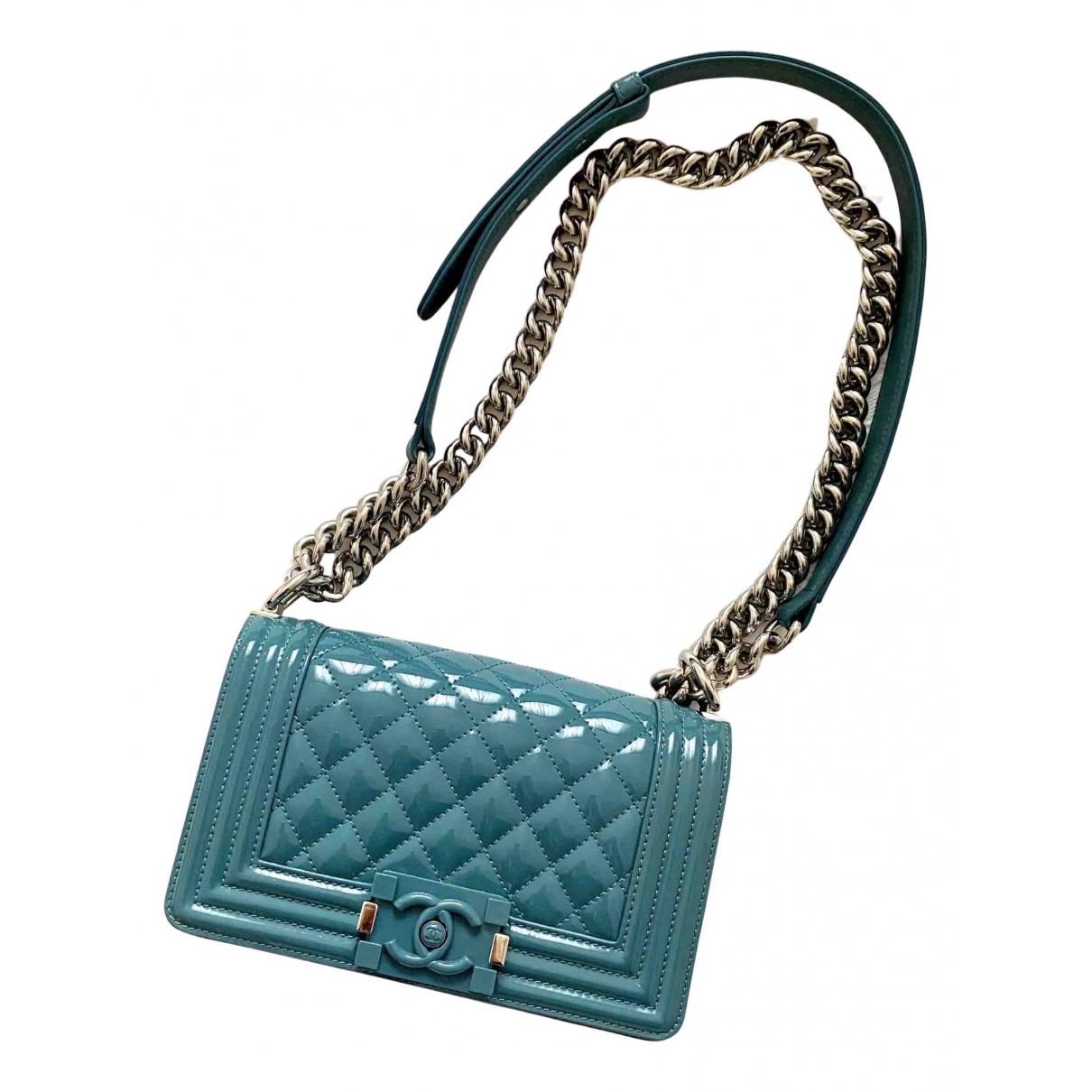 Chanel Boy Turquoise Leather handbag for Women N