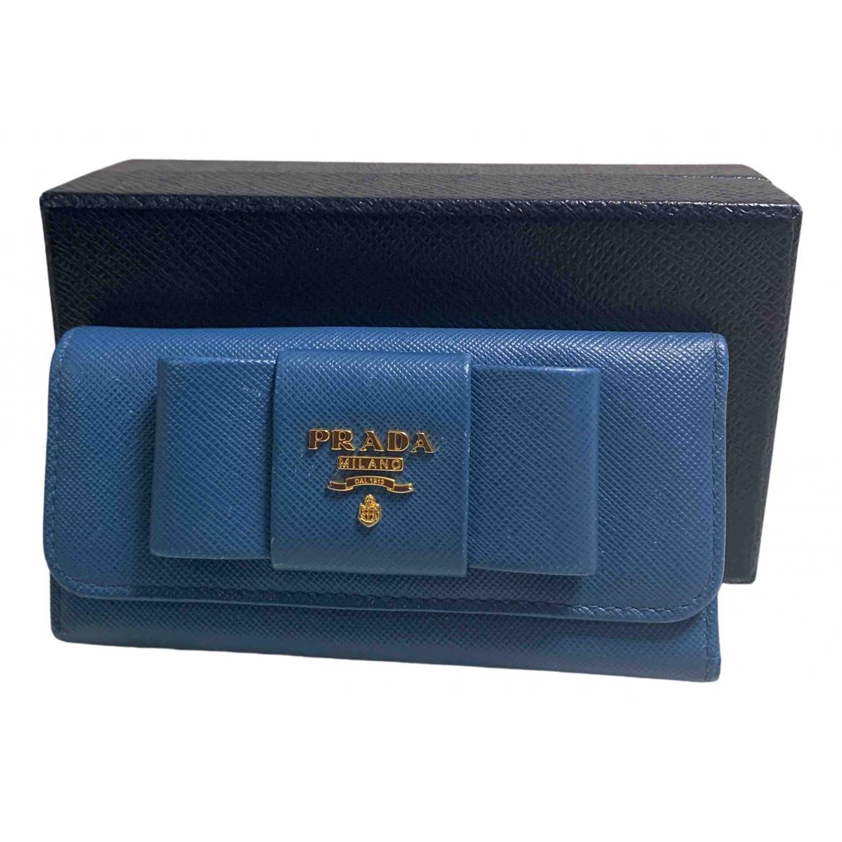 Prada N Blue Leather Purses, wallet & cases for Women N