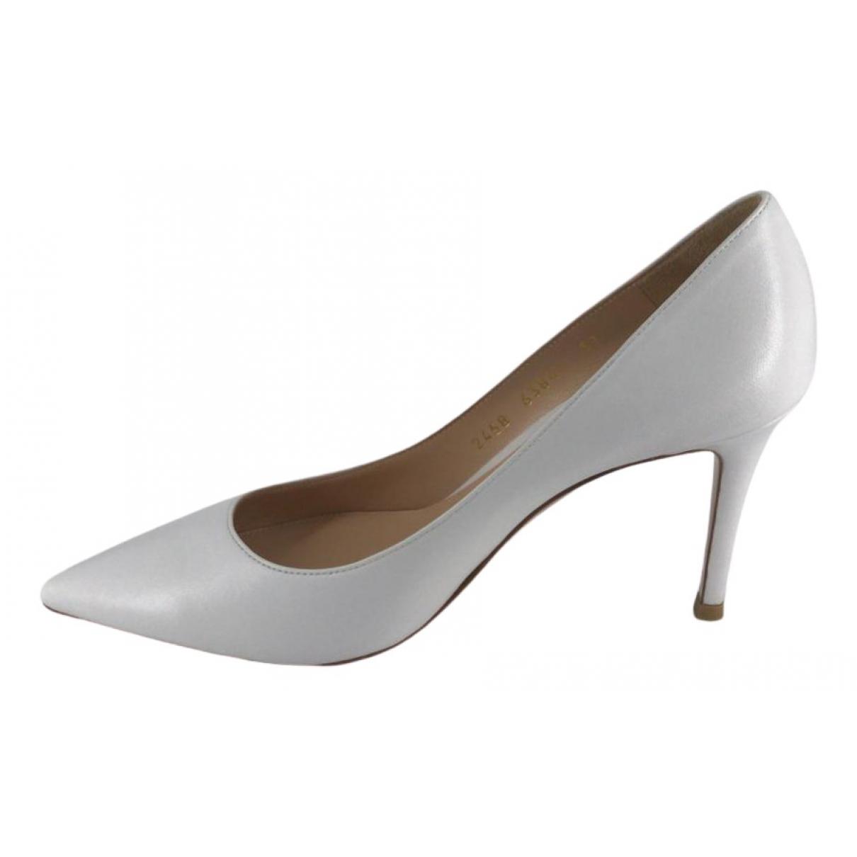 Gianvito Rossi - Escarpins   pour femme en cuir - blanc