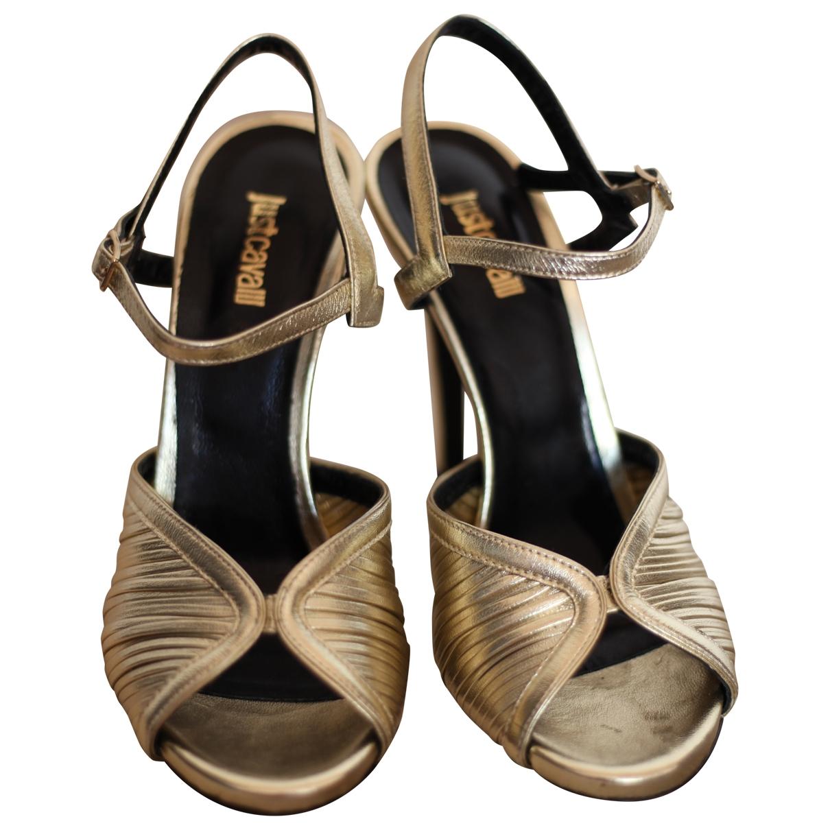 Just Cavalli \N Sandalen in  Gold Leder