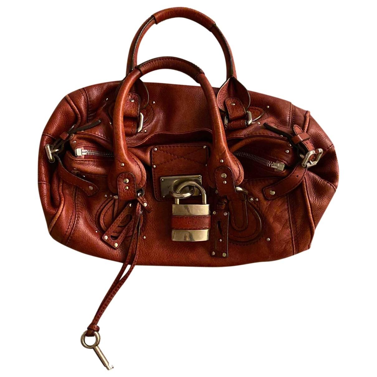 Chloé Paddington Burgundy Leather handbag for Women \N