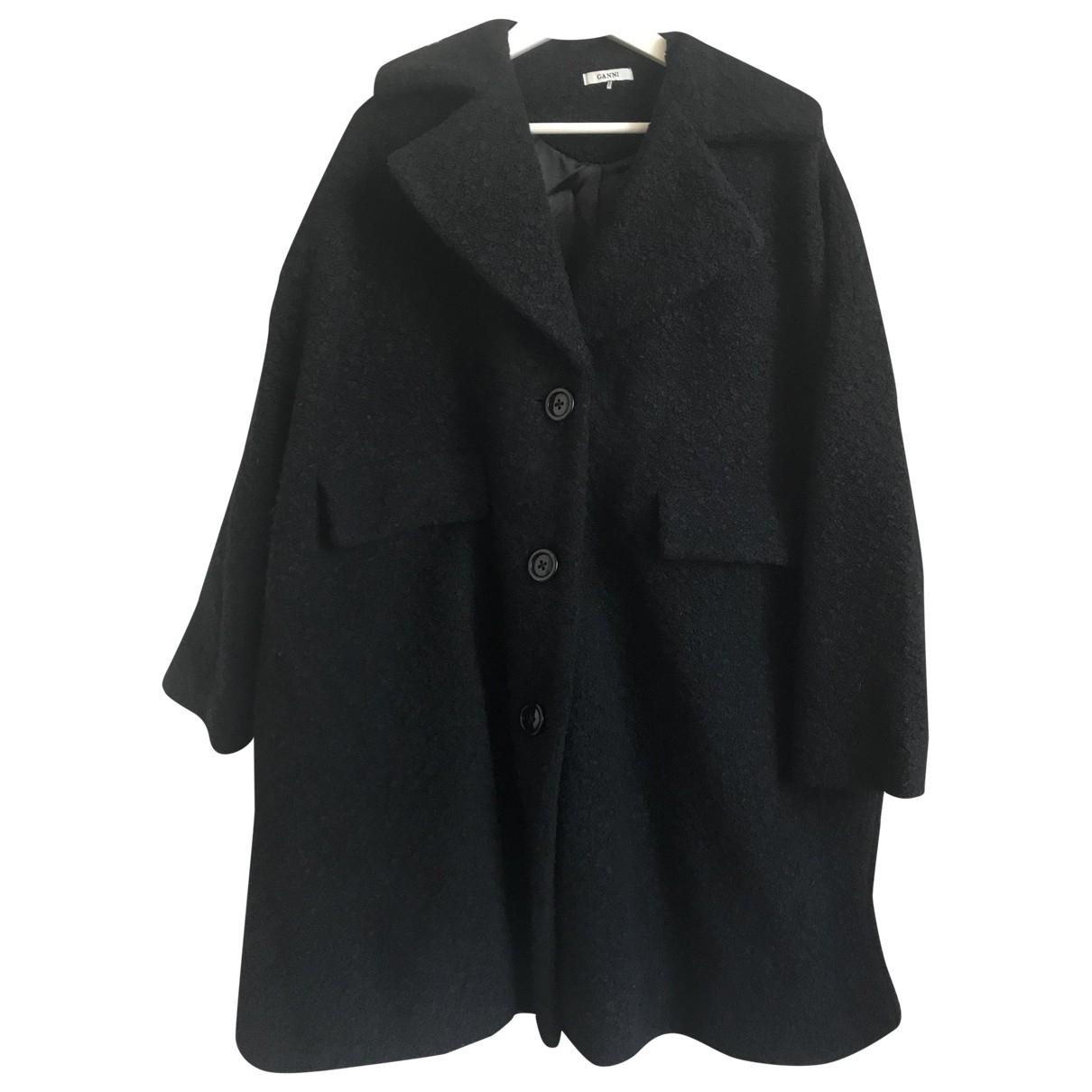 Ganni \N Black Wool coat for Women S International