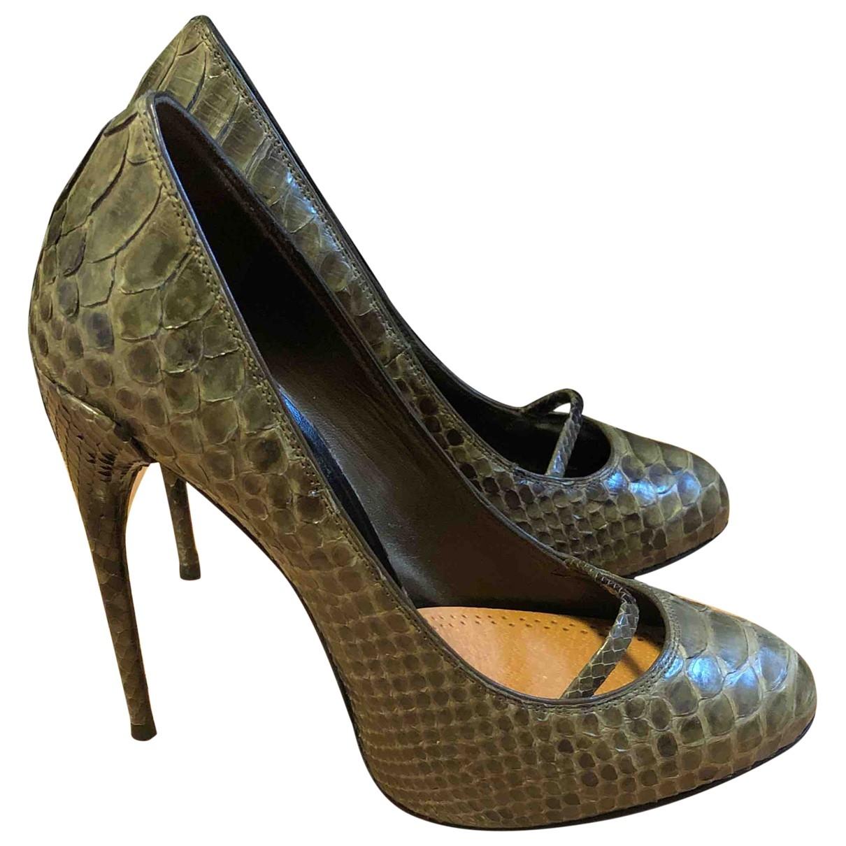 Gucci - Escarpins   pour femme en serpent deau - vert