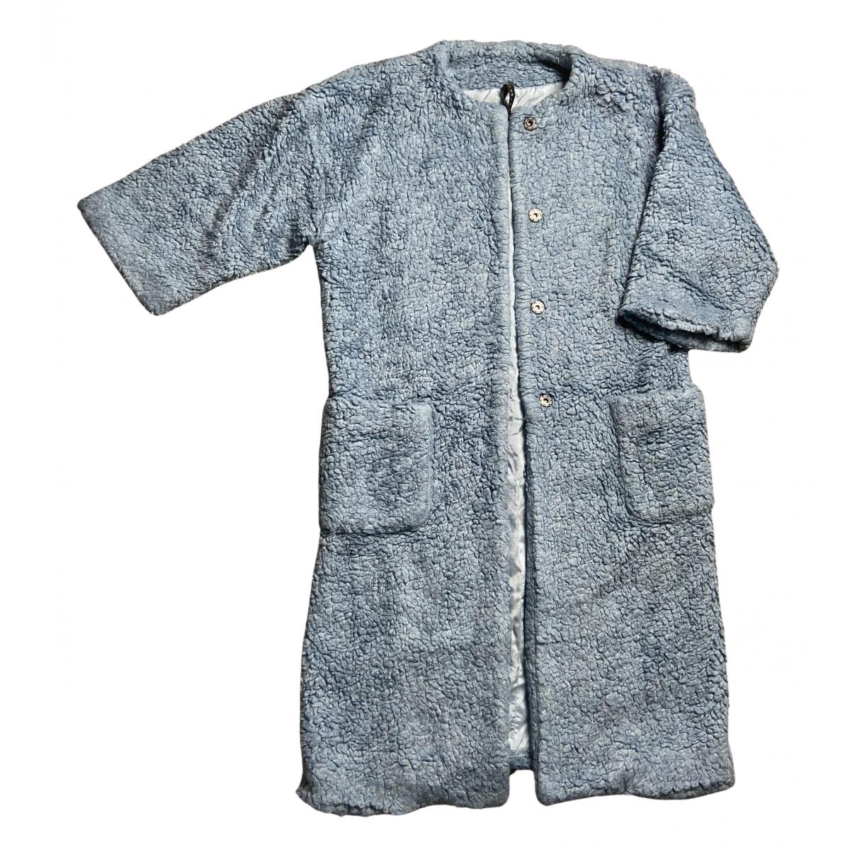 Impérial N Turquoise Faux fur coat for Women XS International