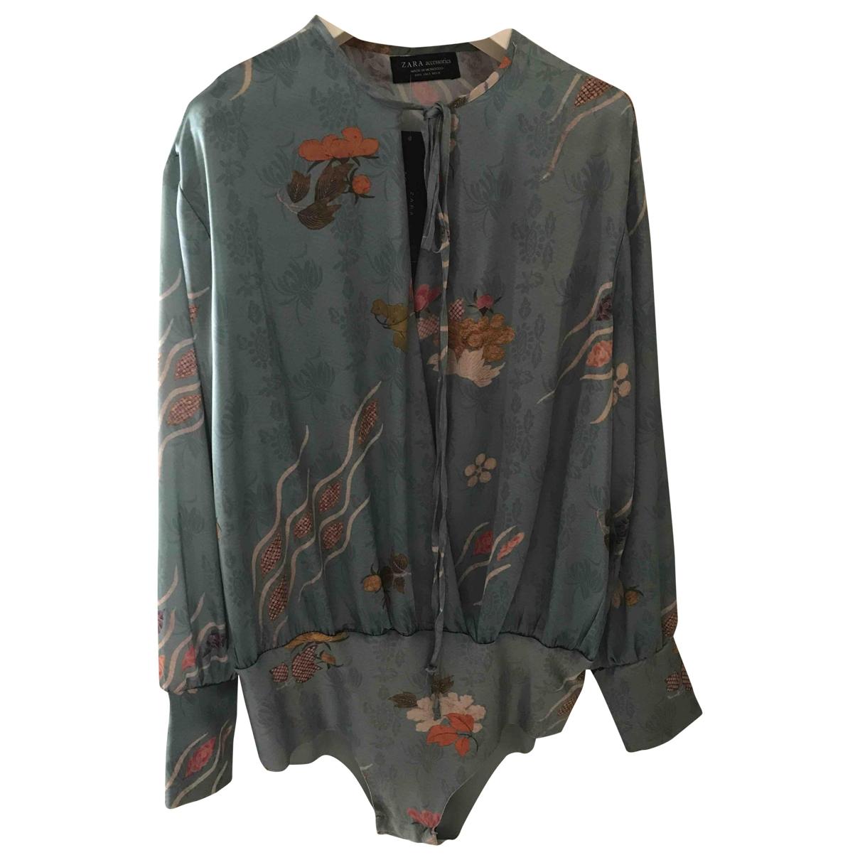 Zara \N Top in  Tuerkis Polyester
