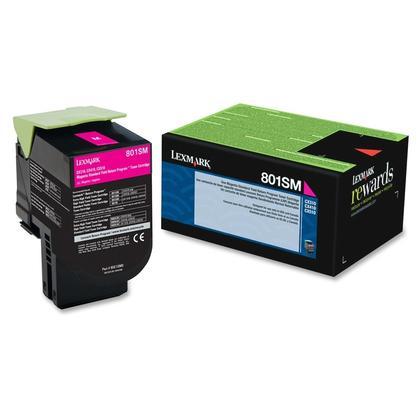Lexmark 80C1SM0 Original Magenta Return Program Toner Cartridge